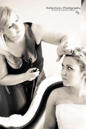 Empire bridal hair