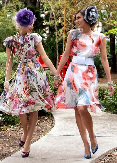 """Editorial """"Garden Party"""", Botanical Grardens, Miami Beach"""