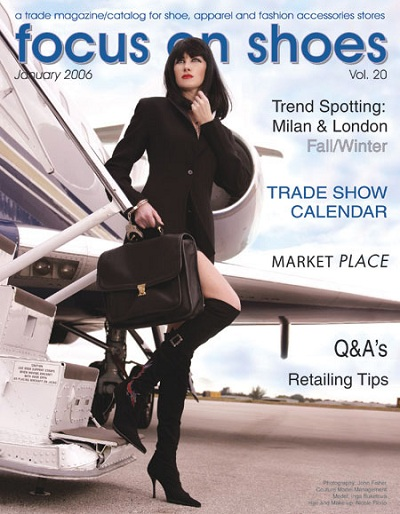 Magazine Cover - focus on shoes