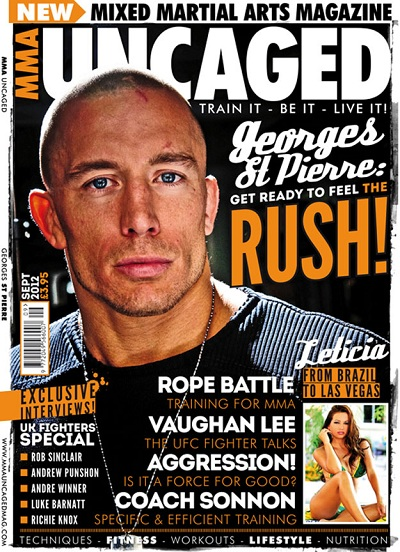 Leticia Farr, MMA Uncaged magazine cover