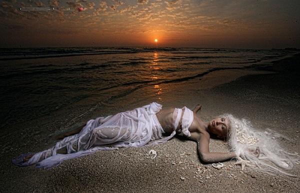 Red Sky Mermaid - GW Burns