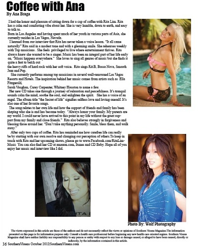 Ana Braga, Southern Vixens Magazine
