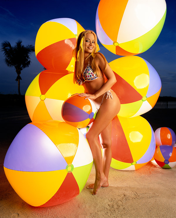 Cindy Margolis, photographed by Brian Smith in Miami Beach for Entertainment Weekly