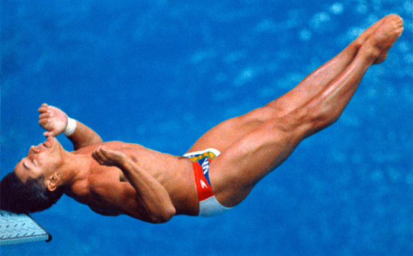 Greg Louganis, photographed by Brian Smith in the 1988 Seoul Olympics