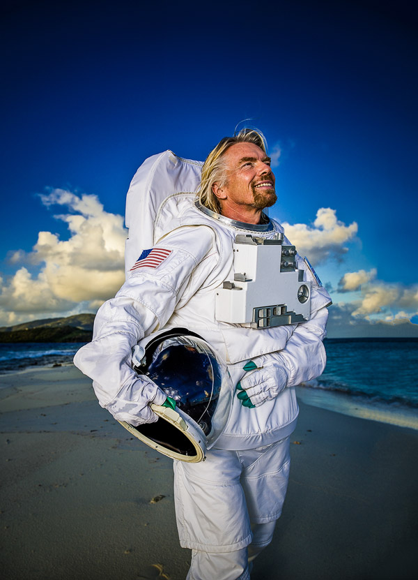 Richard Branson, photographed by Brian Smith on Necker Island for TIME