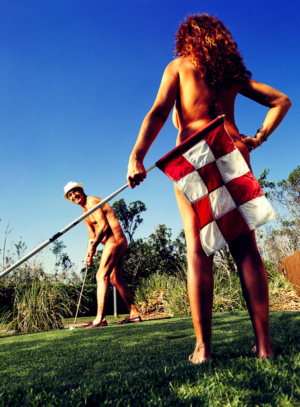 Nude Golf, photographed by Brian Smith in Kissimmee, Florida for Sports Illustrated