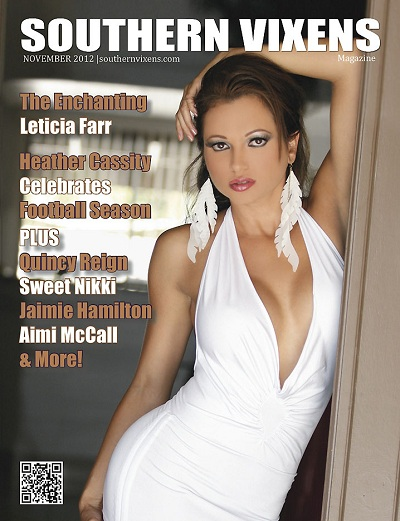 Leticia Farr, Southern Vixens magazine cover, November 2012