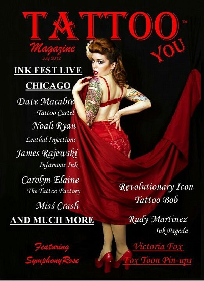 Symphony Rose, Tattoo You Magazine cover