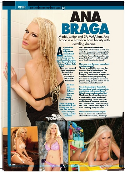 Ana Braga, Fighters Only, April 2013