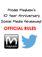 Model Mayhem 10 Year Anniversary Social Media Giveaway Official Rules