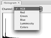 Photoshop lets you choose how and what to display