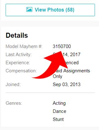 Download Model Mayhem Approved Member Pics