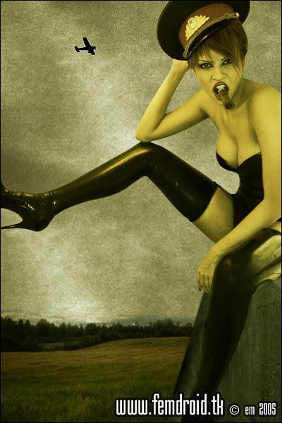 Female model photo shoot of pressdelete in Bacci, Stockholm, Sweden, in the mens room :)