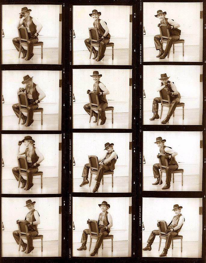 Detroit May 17, 2005 1992 Gordon Alexander Contact Sheet-I always found it rewarding to show others my process of shooting & the image that I made as my final