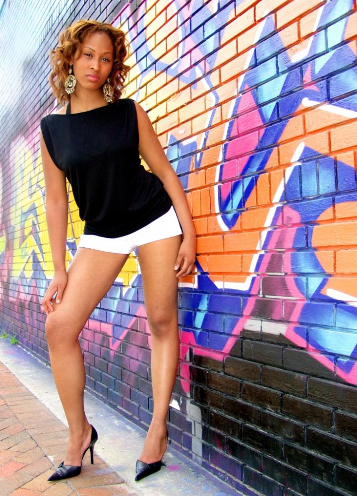 Female model photo shoot of shira santiago in Downtown Orlando