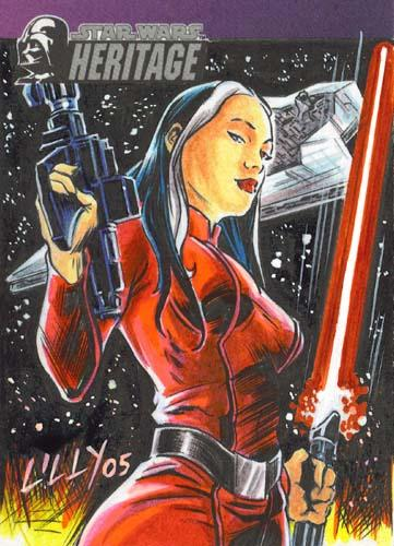 May 24, 2005 Lucasfilm/Topps Ysanna Isard - Painted by Mike Lilly