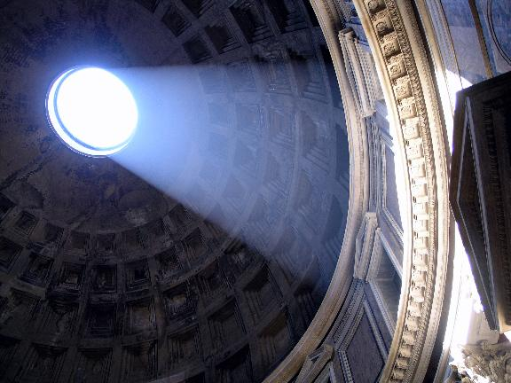 Rome, Italy Jun 09, 2005 2005 Advanced Photo and Imaging Pantheon Dome and Rays of Light
