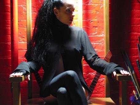Female model photo shoot of Amber Star in Arena Studios, NYC