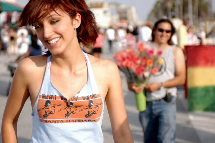 Female model photo shoot of sarahbreck in venice beach!