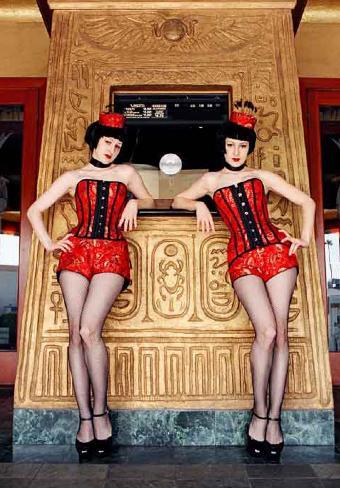 Los Feliz, CA Jul 26, 2005 The Poubelle Twins, Nikon FE