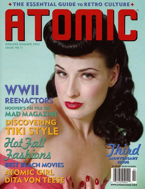 Los Angeles Sep 22, 2005 Danielle Emerick Atomic Magazine cover Model Dita Von Teese