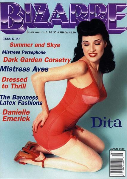Hollywood Sep 22, 2005 Danielle Emerick Bizarre Magazine cover and interview  Model Dita Von Teese