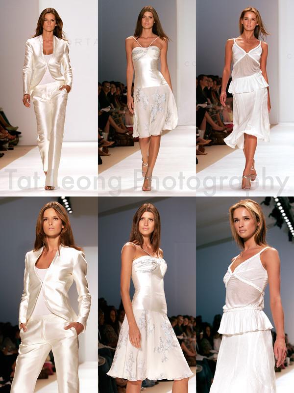NY Fashionweek Spring 06 Sep 28, 2005 Tat Leong Pro Models at work. Estaban Cortazar, Spring 06 collection.