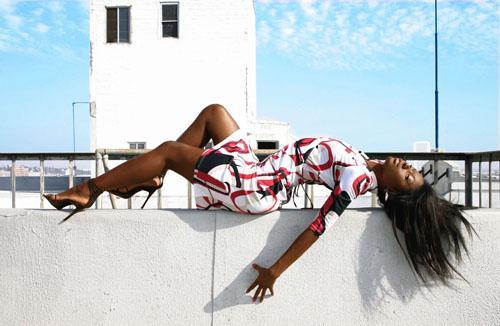 Female model photo shoot of DeniseMilfort in downtown Los Angeles