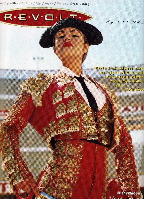Mexico Bull Ring Oct 14, 2005 yes Matadora Dazza for Revolt In Style magazine May 1997