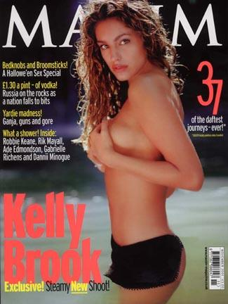 Hawaii Oct 30, 2005 Alan Strutt Kelly Brook Maxim Cover