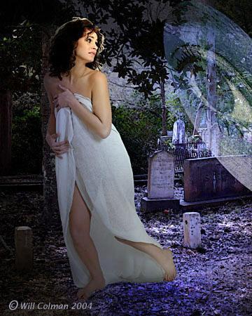 Wilmington, NC. Oct 30, 2005 Will Colman Whos afraid of graveyards? (digital art composite)