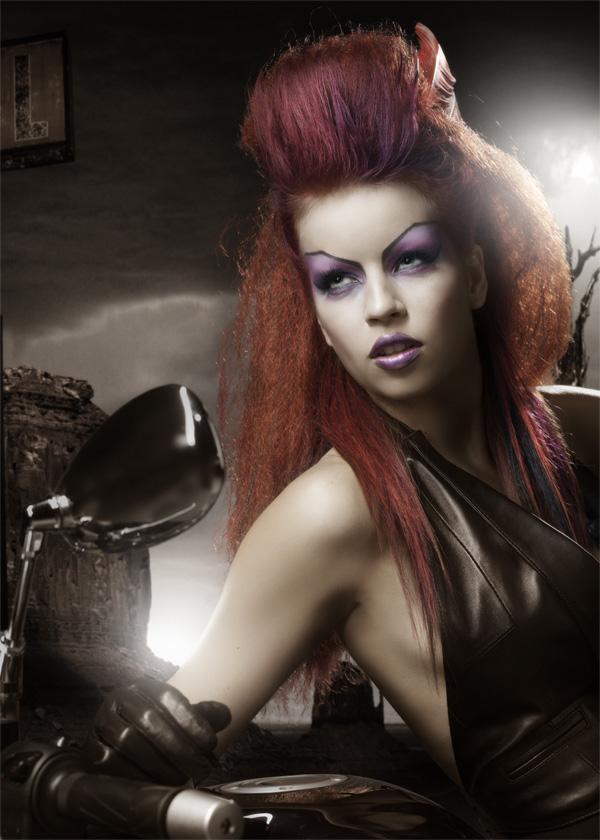 Female model photo shoot of pressdelete in Profoto/Hasselblad studio