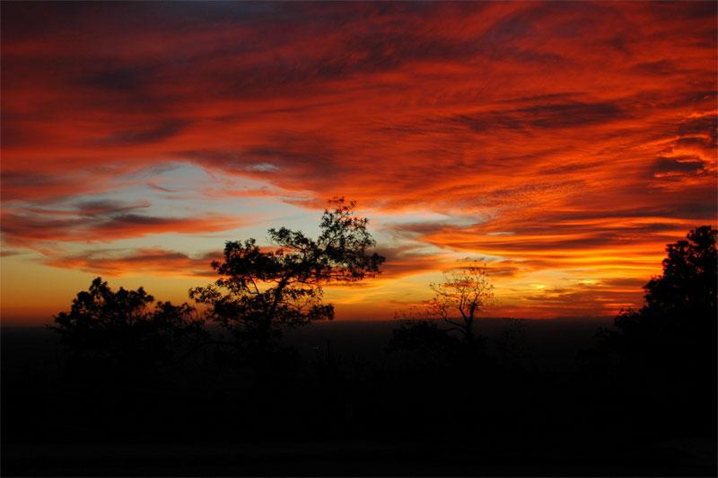 Pilot Mt., NC Nov 09, 2005 ©2005 Timothy Nantz sunset on Pilot Mt.