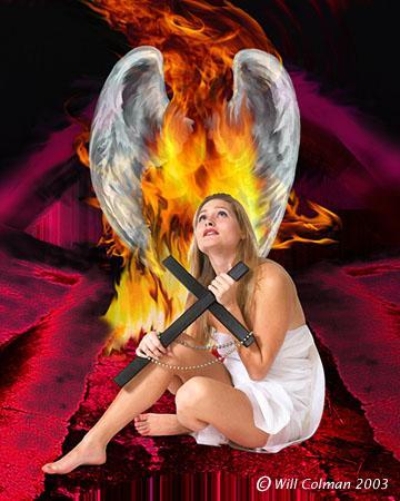 Wilmington, NC. Nov 11, 2005 Will Colman Fallen angel. (Digital art composite)