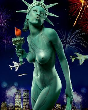 Dec 19, 2005 DBlanks Photography 04 Statue w/ no Liberty - Body Paint by Toni Acey, Photo by Derek Blanks, Model: Crystal