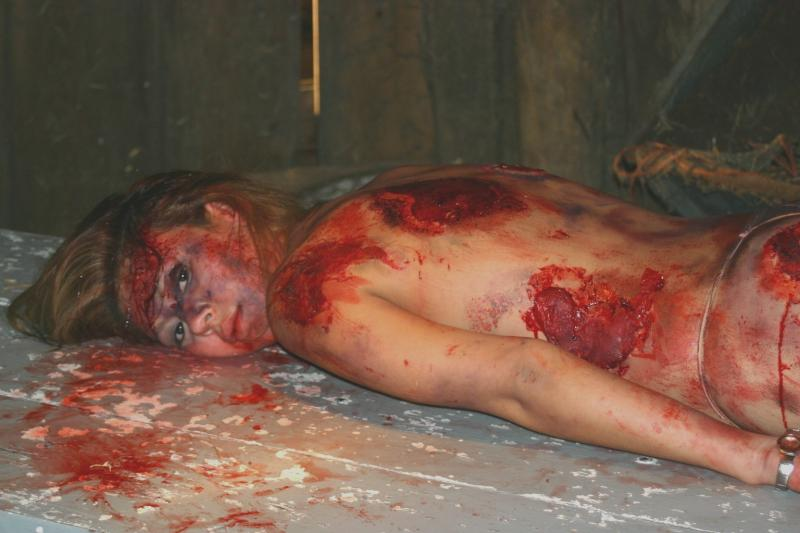 Some barn in Indiana where the temp was only 12 degrees outside and about 20 degrees inside.. Dec 28, 2005 Make up special effects I did on Natalia for the movie To Kill A Killer.