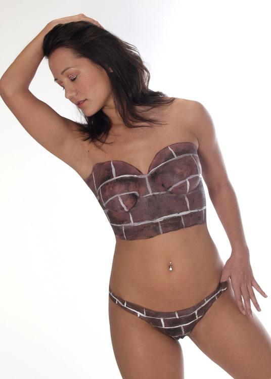 Jan 05, 2006 Kristin body painted in a brick corset set