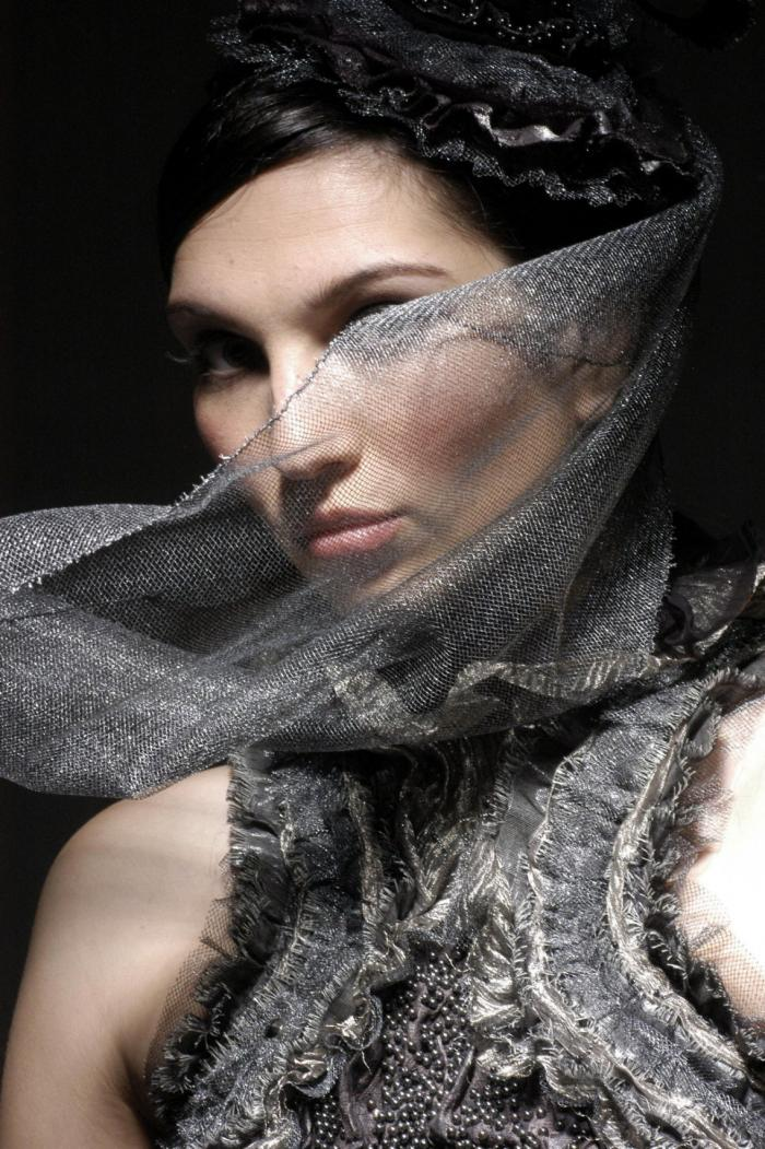Hair and Fashion Styling - MH Jan 08, 2006 Graham Syed Model - Sabina.  MU- Joanne Lily. Couture Designer - Neodandi.