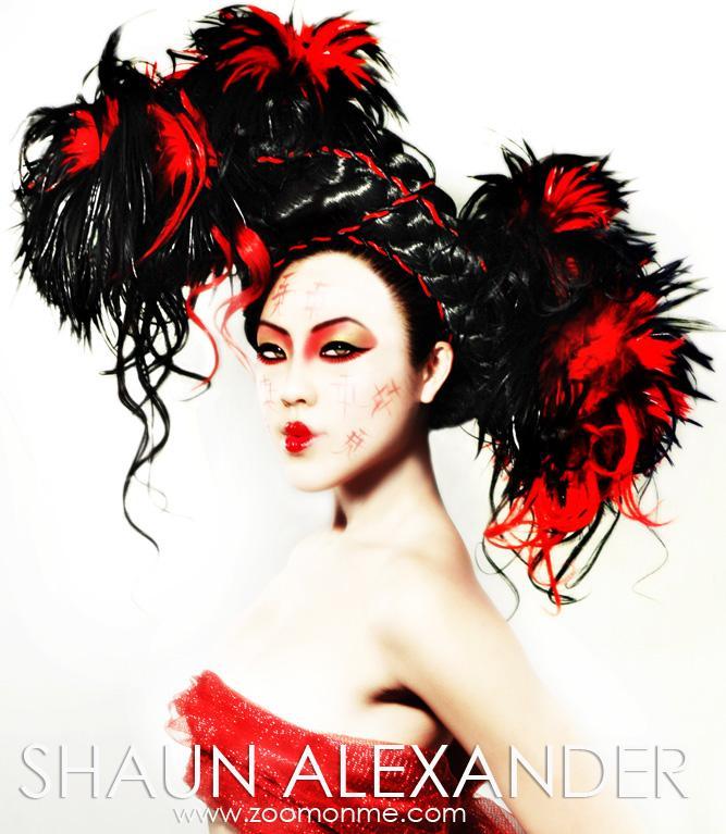LA. We do workshops for those who want to do fashion stuff. Jan 25, 2006 Red And Black. - Mu and photo- Shaun Alexander. Model - Sinsu.