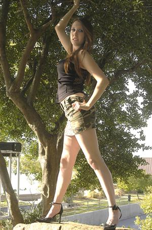 Female model photo shoot of GlitterEyes in Riverside Dr. - Tulsa, Ok, makeup by Hardcore Glitter MUA