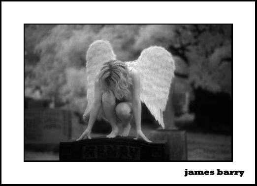 Toronto Mar 10, 2006 ©2005 James Barry Photography Angel in Infrared - I have dedicated this shot to the memory of my mother. Cancer took her from her loved ones in 2011. May she soar with the angels in heaven. Love you mom :)