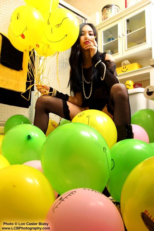 My Studio - S. Cali Mar 14, 2006 Lon Casler Bixby - www.lcbphotography.com - 2006 Asian Girl with Balloons - Night