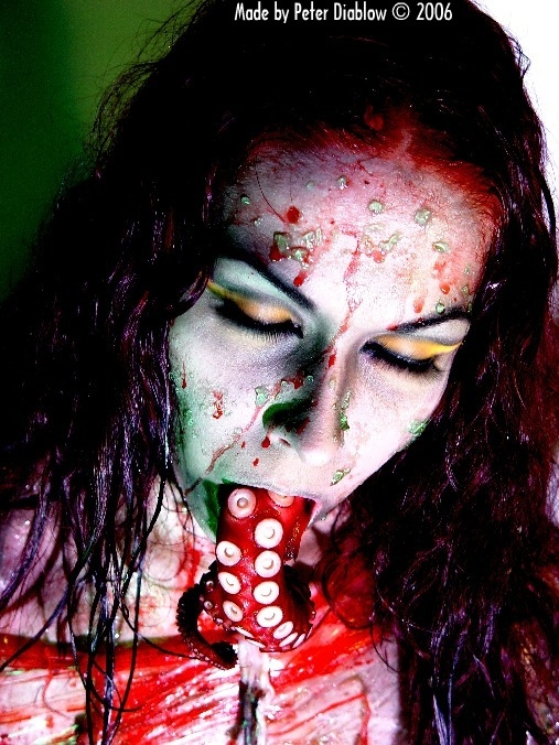 Mar 18, 2006 Peter Diablow 2006, Makeup by me Tribute to HP Lovecraft