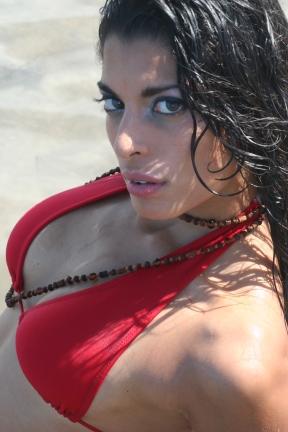 Female model photo shoot of Veronica Adames in Virginia Key Beach