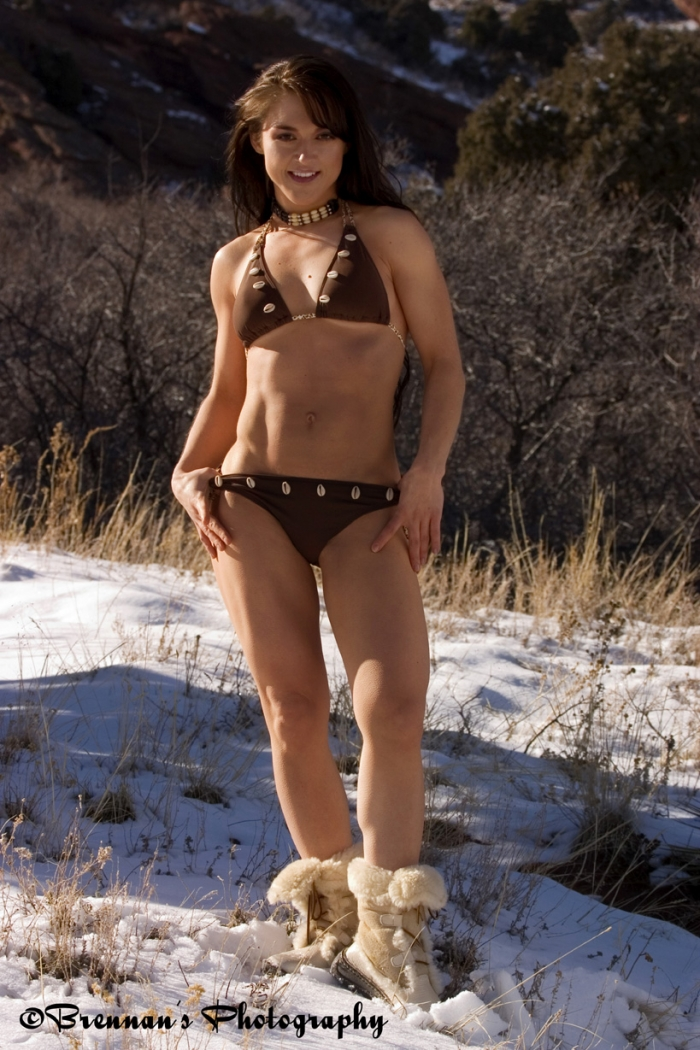 Red Rocks Park Mar 24, 2006 Brennans Photography Bikini in the snow