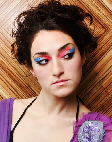 Female model photo shoot of Julia Royter in Designer Kahri's Fashion Show at Nest