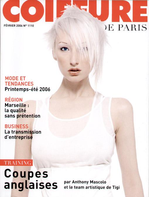 BEDHEAD Studios, London Apr 27, 2006 Photo: Roberto Aguilar, TIGI Coiffure De Paris cover, 2006