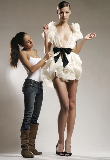 New York, N.Y May 18, 2006 Seth Sabal Fashion Designer Ximena Valero and  Tiiu Tuik  Super Model