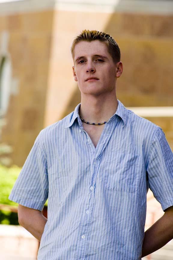 Male model photo shoot of Schwarz in DU Campus