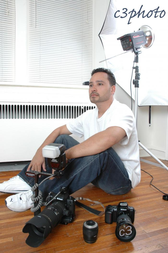 Male model photo shoot of c3photo in My studio